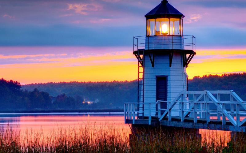 Cute Light Blue Wallpapers Hd Doubling Point Lighthouse Maine Wallpaper Download