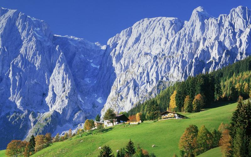 3d Moving Computer Wallpapers Free Download Hd Stuning Scenery In Austrian Alps Wallpaper Download