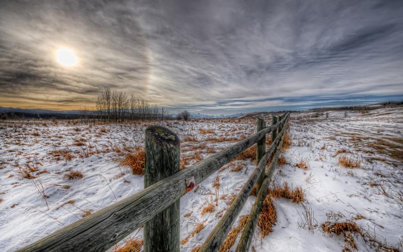 Microsoft Windows 3d Wallpaper Hd Winter Sky Over The Plains Hdr Wallpaper Download