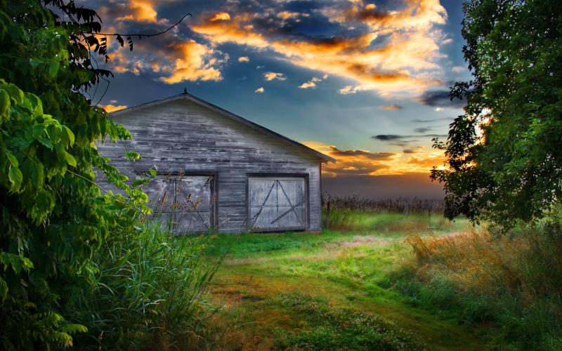 Wallpaper Background Cute Pink Hd An Old Barn At Sunset Wallpaper Download Free 56709