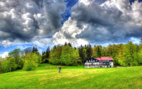 hd beautiful country home hdr wallpaper
