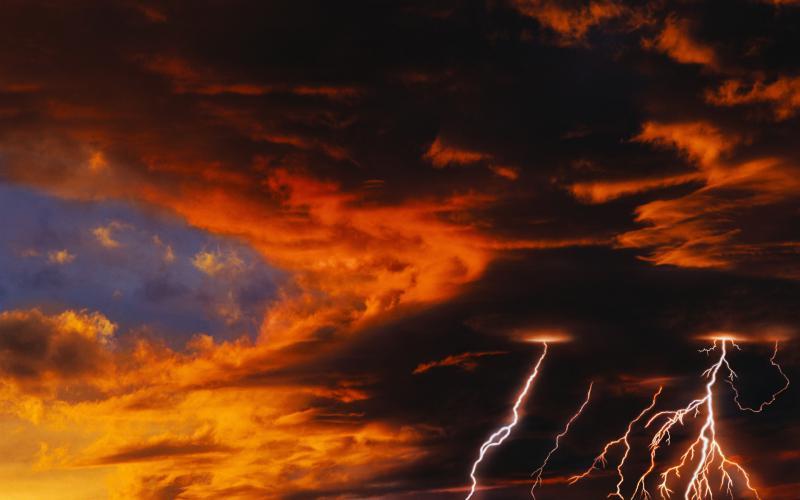Good Morning Cute Wallpaper Hd Hd Lightning Sunset Wallpaper Download Free 63367