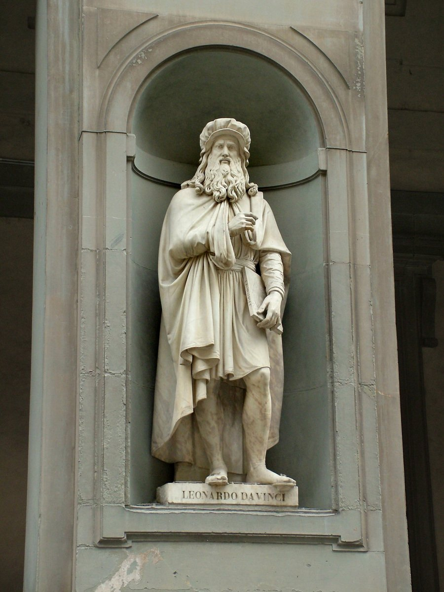 free statue of leonardo