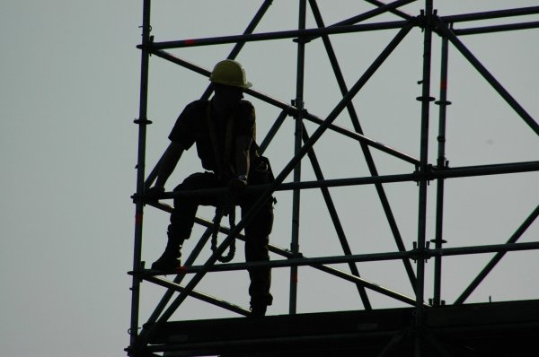 Free Scaffolding Silhouette Stock