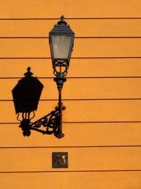 Free lamp post and shadow Stock Photo - FreeImages.com
