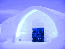Free Ice Hotel Entrance Stock