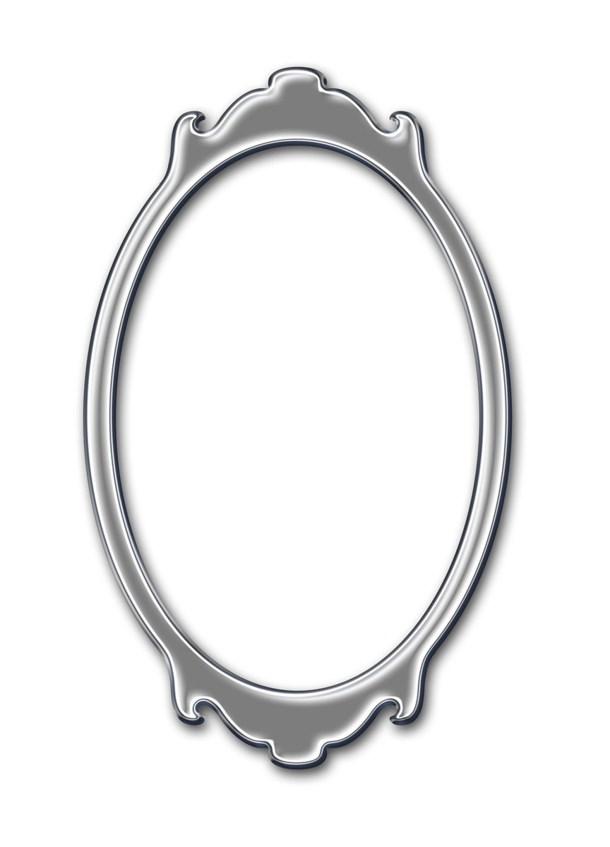 Free Oval frame for mirror or image 3 Stock Photo