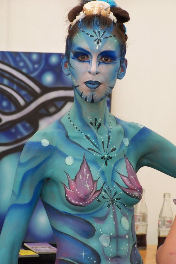 Free Body Painting Festival 3 Stock
