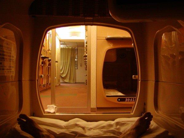 Large Japanese Capsule Hotel Exploring Mars