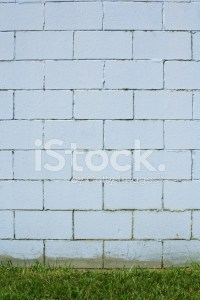 Cinder Block Wall Background Painted Bright Blue Stock ...