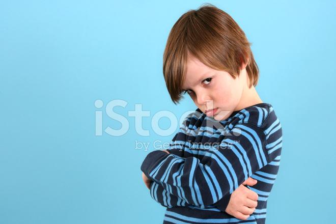 child pouting stock photos