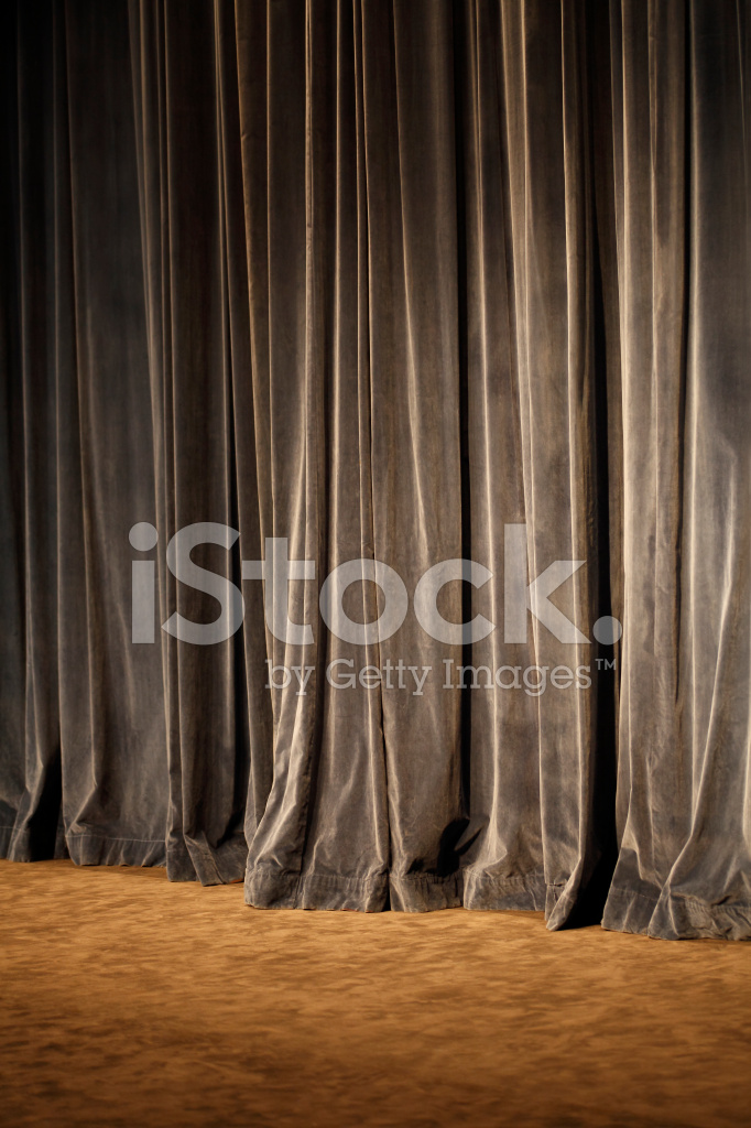 old theater curtain background stock