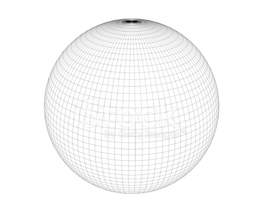 wireframe sphere high polygon