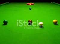 Snooker Table Set UP for Play stock photos