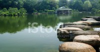 Stepping Stones and Japanese Garden Stock Photos ...