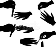 manicure silhouettes stock vector