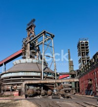 Blast Furnace IN Steelworks of Beijing, China stock photos ...