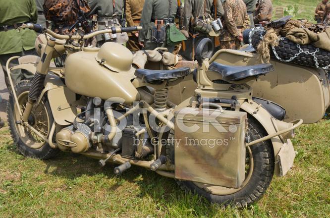 Ww Ii German Old Motorcycle Bmw R75