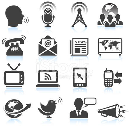 Modern Communication Black & White Royalty Free Vector