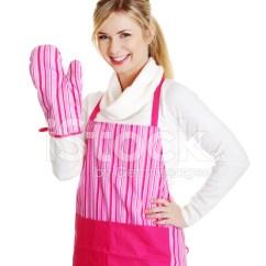 Kitchen Aprons Backsplashes 粉红色厨房围裙快乐年轻金发女人照片素材 Freeimages Com Premium Stock Photo Of 粉红色厨房围裙快乐年轻金发女人