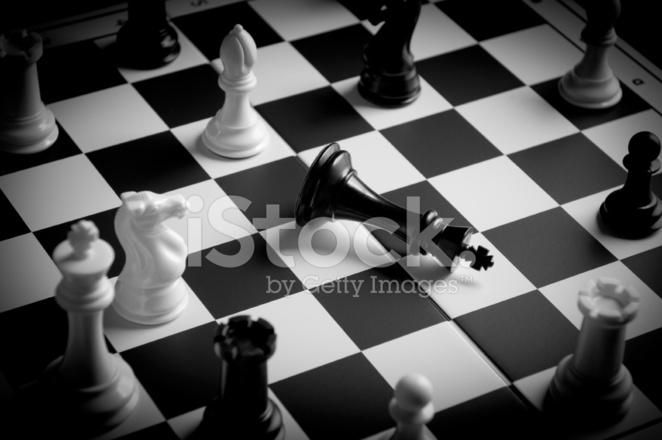 chess king is in