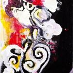 Abstrakte Kunst Acryl Malerei Stock Vektorgrafik Freeimages Com