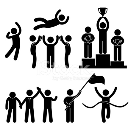 Win Winner Loser Victory Success Pictogram Stock Vector