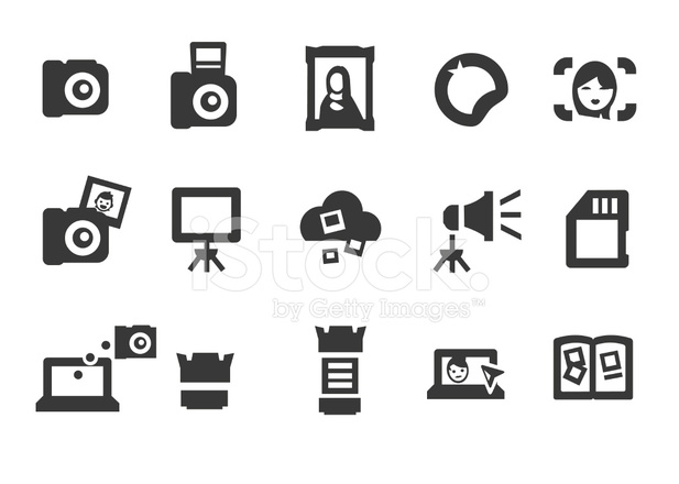 Photography Icons Stock Vector  FreeImagescom