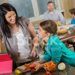 Macys Kitchen Aid The Cheapest Cabinets 妈妈和女儿在数字平板电脑的家庭厨房里做饭照片素材 Freeimages Com Premium Stock Photo Of 妈妈和女儿在数字平板电脑的家庭厨房里做饭
