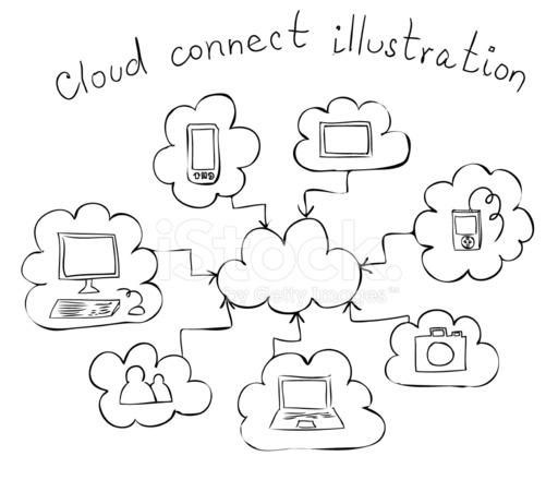 Tablet Pc Hand Drawn Vector Illustration Cartoon Vector