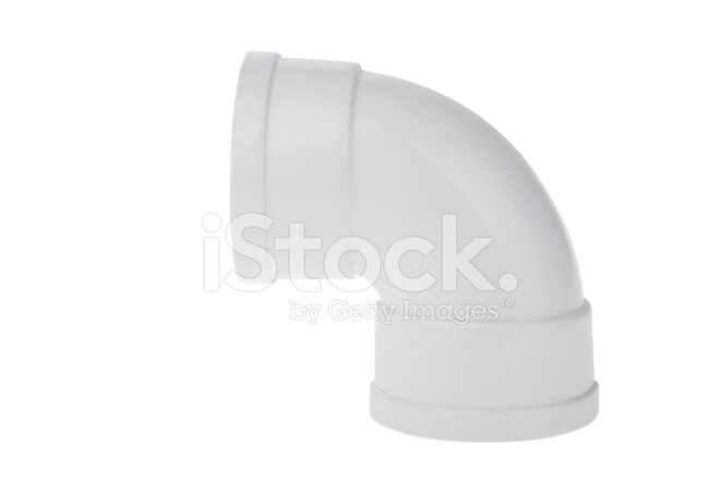 Plastic Compression Type Waste Pipe Fitting Elbow Isolated