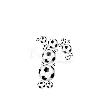 Football, Soccer Alphabet Lowercase Letter R stock photos