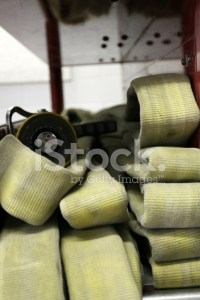 Water Hose on Fire Truck stock photos - FreeImages.com