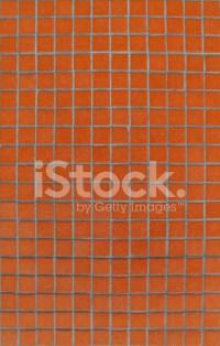 Orange Tiles Mosaic Pattern on A Wall Stock Photos ...