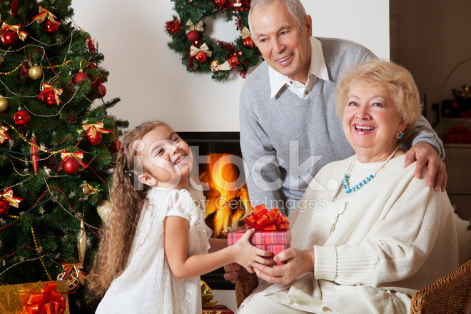 grandparents grandchildren and presents