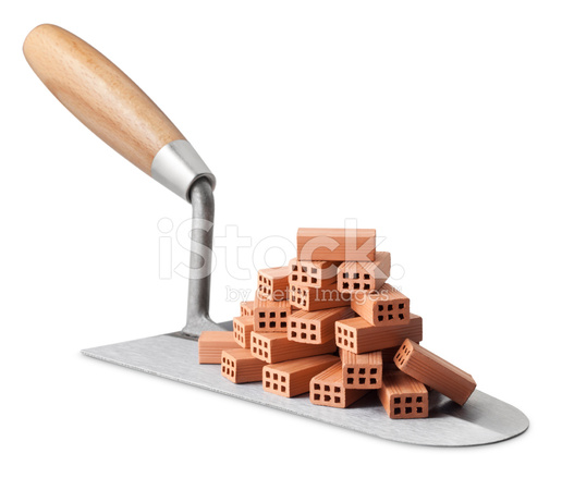 Trowel With Stack Of Bricks Stock Photos Freeimages Com