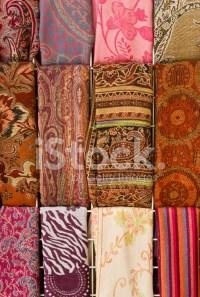 Colorful Scarves AT Arabian Market, Israel stock photos ...