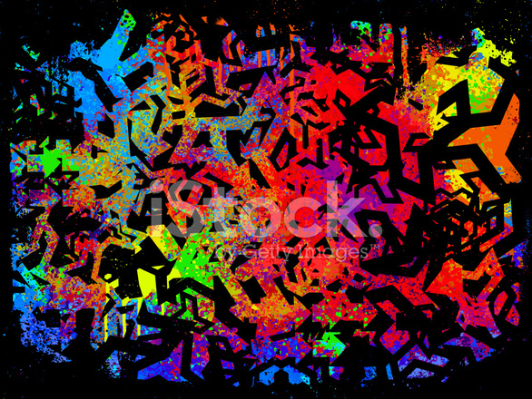 Car Paint Spray Wallpaper Abstract Graffiti Grunge Background Stock Vector