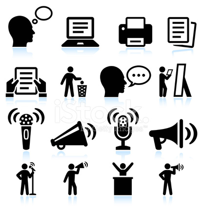 Steps TO Public Speakings and Practice Vector Interface