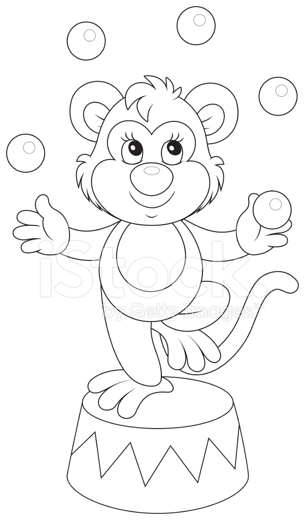 carnival monkey coloring pages - photo#18