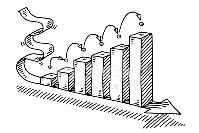 Success Business Bar Chart Arrow Drawing Stock Vector Freeimages Com