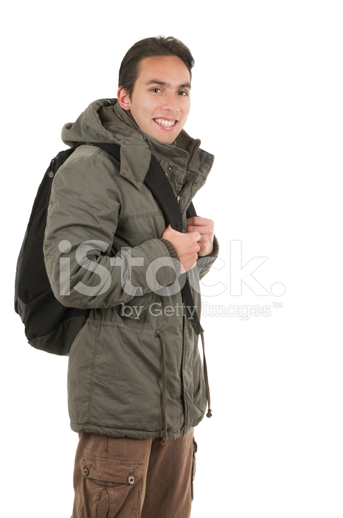 happy young guy wearing