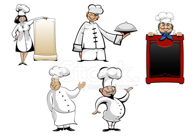 Dibujos De Cocineros Chef Caricatura Ilustracin Vectorial