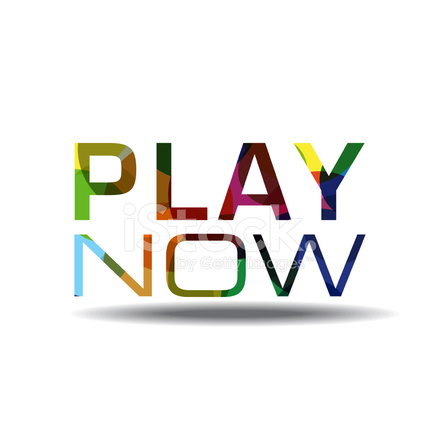 play now colorful vector