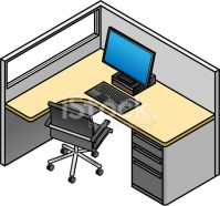 Office Cubicle stock photos - FreeImages.com