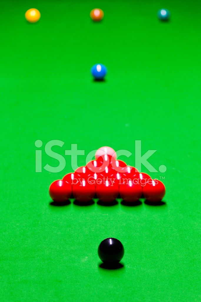 Snooker Table Setup stock photos