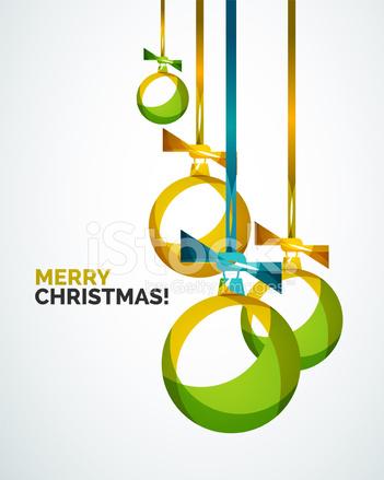 merry christmas modern card abstract