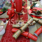 Christmas Dinner Table Setting Decorative Table Cloth Runner C Stock Photos Freeimages Com