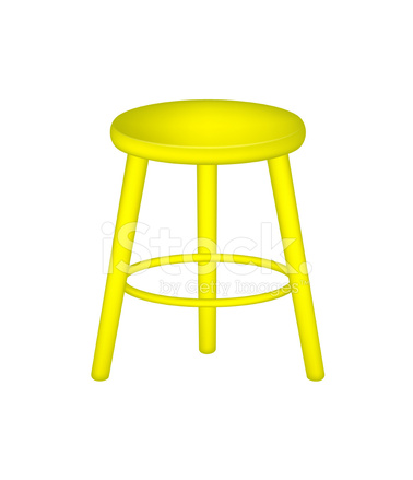 industrial kitchen stools how much do cabinets cost 在黄色设计复古凳子 stock vector - freeimages.com
