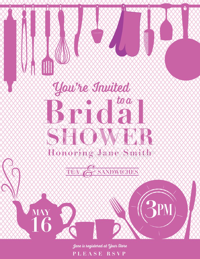 kitchen bridal shower area rugs for under tables 厨房新娘送礼会请柬stock vector freeimages com premium stock photo of 厨房新娘送礼会请柬